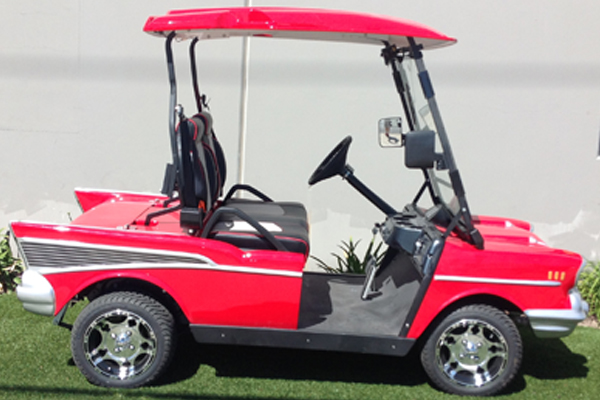 Lsv Nev Certified With A Top Sd Of 25 Miles Per Hour The 2018 57 Chevy Golf Cart Is Perfect Electric Vehicle To Get You Where Need Be